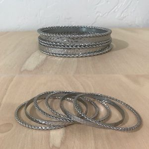 Nordstrom Set of 6 Silver Quality Bangles
